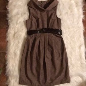 NWT Women's Brown Belted Dress